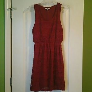 Red Lace Racerback Dress